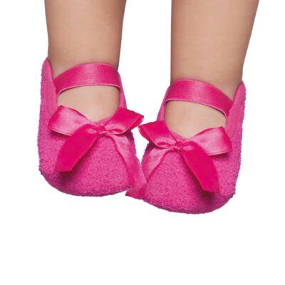 Imagem 1 do produto Meia sapatilha para bebe em soft Pink - Puket - PK6979L-PK Sapatilha Soft Lisa Pink-15/18