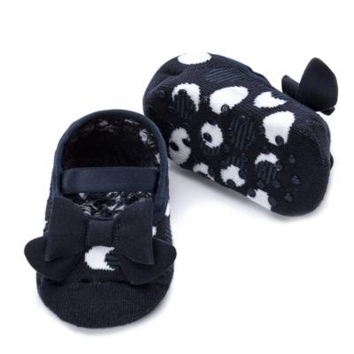 Imagem 2 do produto Meia Sapatilha para bebe Laço & Poá Marinho - Puket