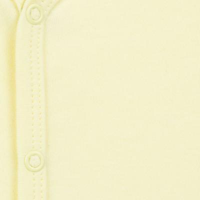 Imagem 2 do produto Macacão longo para bebe em suedine Amarelo - Tilly Baby - TB13113.07 MACACAO BASICO DE SUEDINE AMARELO-M