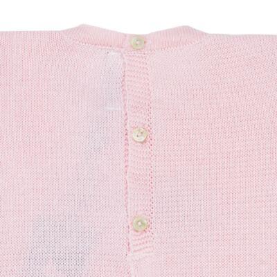 Imagem 2 do produto Macacão longo para bebe em tricot Rosa - Mini Sailor