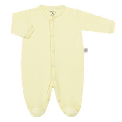 Imagem 1 do produto Macacão longo para bebe em suedine Amarelo - Tilly Baby - TB13113.07 MACACAO BASICO DE SUEDINE AMARELO-P