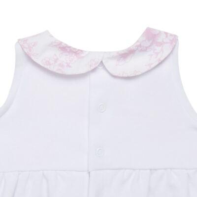 Imagem 3 do produto Macacão regata para bebe em algodão egípcio Toile du Jouy - Bibe - 41D05-A53 BANHO DE SOL FEM GERANIO-P