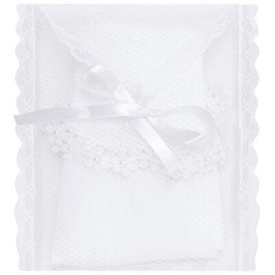 Imagem 3 do produto Meia para bebê branca bordada Flores - Roana - 406-A Meia branca bordada Flores-RN