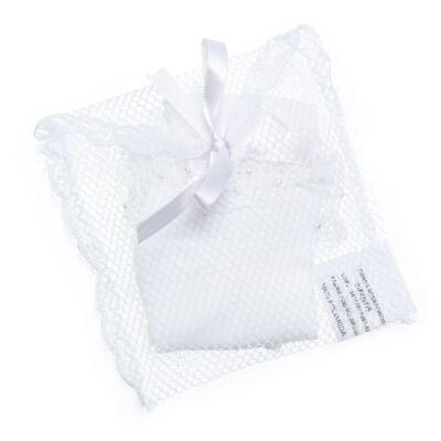 Imagem 3 do produto Meia para bebe Renda & Pérolas Branca - Roana - MB000025001 Meia Borbadada Laço Branco -RN