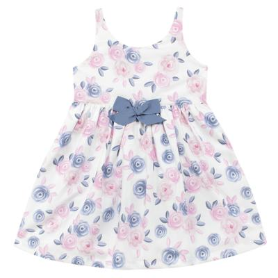 Imagem 1 do produto Vestido curto para bebe em tricoline Flourish - Mini Sailor - 14724440 VESTIDO C/LACO TRICOLINE FLORAL ROSA-3-6