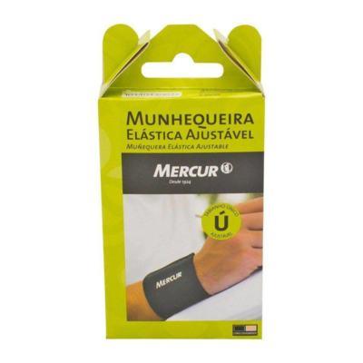 Imagem 5 do produto Munhequeira Elástica Ajustável Preta BC0054 Mercur -