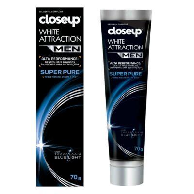 Imagem 1 do produto Gel Dental Close Up White Attraction Men Super Pure 70g