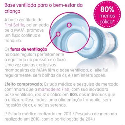 Imagem 2 do produto Mamadeira MAM First Bottle Boys 260mL - 4663