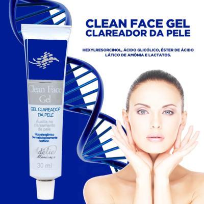 Imagem 2 do produto Clean Face Gel 30ml - Gel Clareador da Pele - 30ml