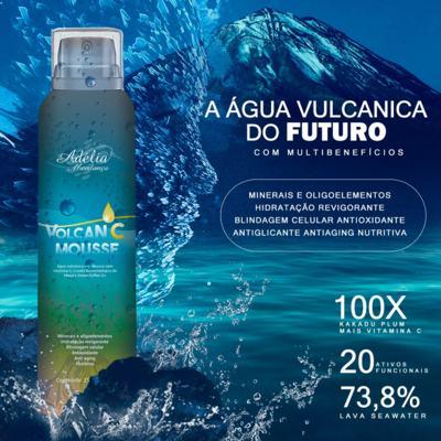 Imagem 2 do produto Volcan C Mousse - Água vulcânica em mousse com vitamina C, Lisado Biotecnológico de Maçã e Green  Coffee Oil - 150ml