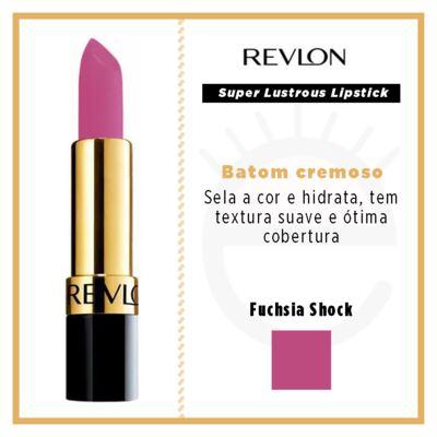 Imagem 5 do produto Super Lustrous Lipstick Revlon - Batom - Fuchsia Shock