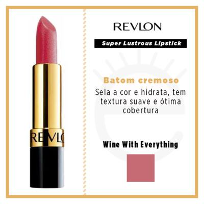 Imagem 4 do produto Super Lustrous Lipstick Revlon - Batom - 525 - Wine With Everything