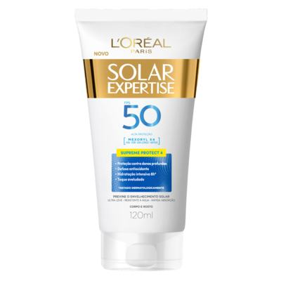 Protetor Solar Expertise Creme Supreme Protect 4 - Fps50 | 120ml