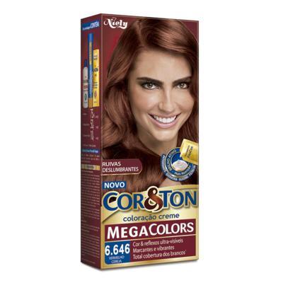 Imagem 2 do produto Coloração Cor & Ton Mega Colors 6.646 Vermelho Ceraja -