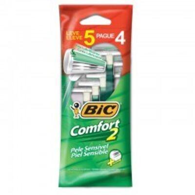 Imagem 1 do produto Aparelho de Barbear Bic Comfort2 5 Unidades