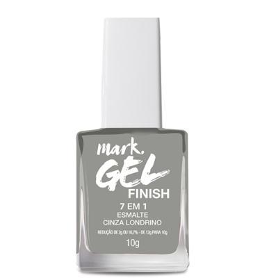 Imagem 2 do produto Esmalte 7 Em 1 Mark. Gel Finish - 10g - Esmalte 7 em 1 Mark. Gel Finish 10g - Cinza Londrino