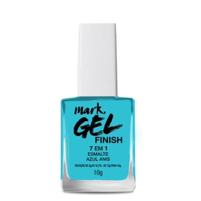Imagem 1 do produto Esmalte 7 Em 1 Mark. Gel Finish - 10g - Esmalte 7 em 1 Mark. Gel Finish 10g - Azul Anis