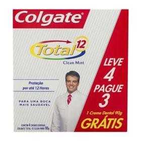 Creme Dental Colgate Total12 - Clean Mint | 90g | Leve 4 Pague 3
