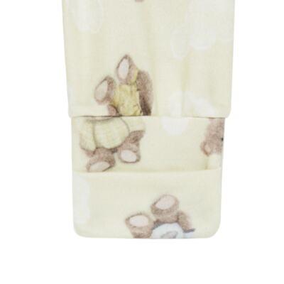 Imagem 4 do produto Body longo com Calça para bebe em suedine Ursinho - Petit - 17924346 CONJ BODY M/L MIJAO REV SUEDINE URSO NEUTRO-RN