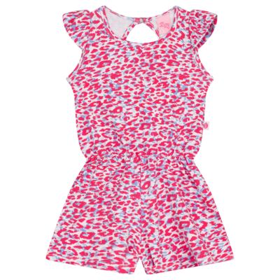 Imagem 1 do produto Macaquinho regata para bebe Oncinha Pink - Livy