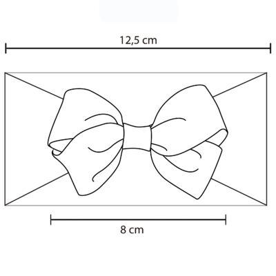 Imagem 2 do produto Faixa meia Laço gorgurão Rosa Poá - Roana