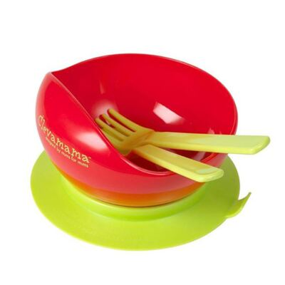 Imagem 2 do produto Tigela para alimentação c/ Talheres - Clevamama