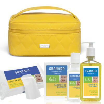 Imagem 1 do produto Necessaire Farmacinha Colors Yellow + Kit Granado Bebê - Classic For Baby Bags & Granado