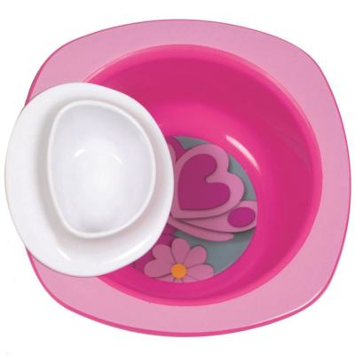 Imagem 1 do produto Tigela Dip It Rosa (9m+) - First Years