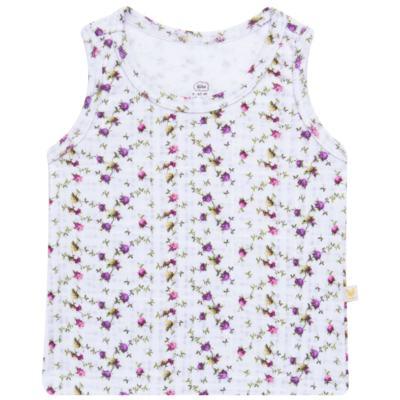 Imagem 1 do produto Regata para bebe em algodão egípcio Cute Flowers - Bibe - 38O02-G44 REGATA ESTAMPA DIGITAL FLORES LILÁS-GG