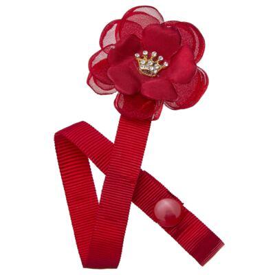 Imagem 1 do produto Prendedor de Chupeta Flor & Mini Coroa Vermelho - Roana