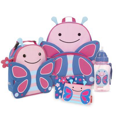 Imagem 1 do produto Mochila para bebe + Lancheira + Estojo + Garrafinha Zoo Borboleta - Skip Hop