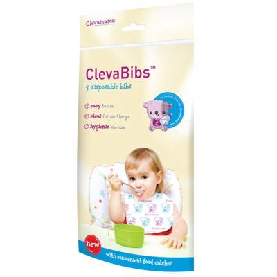 Imagem 3 do produto Prato c/ 2 Colheres e Estojo + Babador descartável c/ 5 unidades ClevaBibs - Clevamama