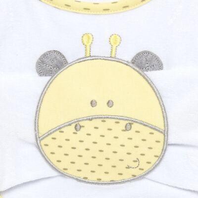 Imagem 2 do produto Babador com fraldinha de boca para bebe Nature Giraffe & Friends - Classic for Baby