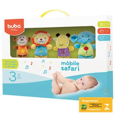Imagem 2 do produto Móbile Musical para Bebe Safari Friends (3m+) - Buba