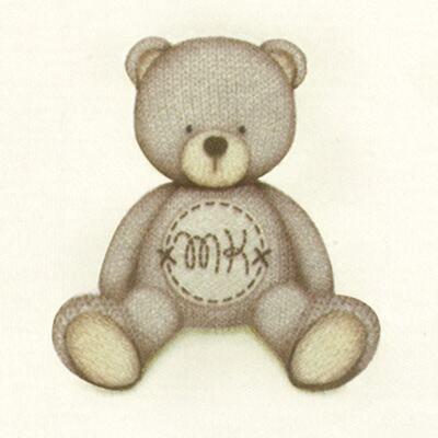 Imagem 3 do produto Pack: 2 babadores em Pima Cotton Supreme Prime Bear Marfim - Mini & Kids