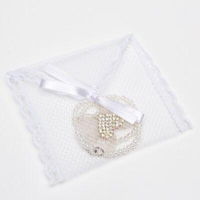 Imagem 3 do produto Prendedor de chupeta Laço Coração Marfim - Roana