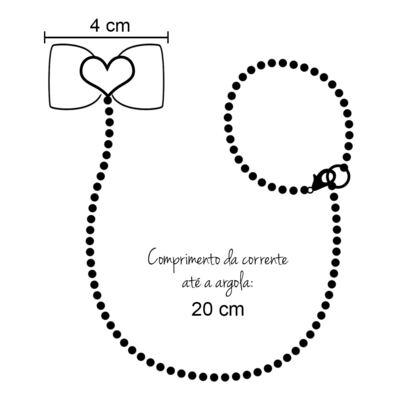 Imagem 4 do produto Prendedor de chupeta Laço Coração Marfim - Roana