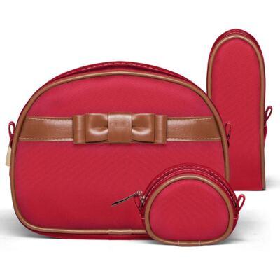 Imagem 2 do produto Kit Acessórios Laço Caramel Vermelho + Kit Granado Bebê - Classic For Baby Bags & Granado