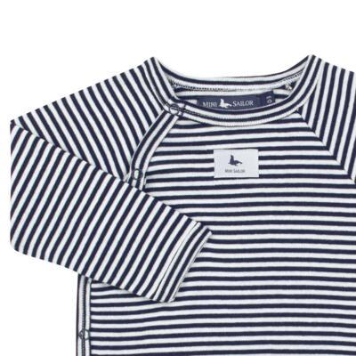Imagem 3 do produto Body longo c/ Calça (mijão) em suedine StripesMarinho - Mini Sailor - 17234444 BODY S M/L C/MIJAO RIB/SUEDINE MARINHO-3-6