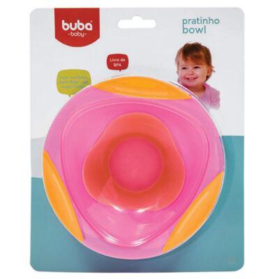Imagem 1 do produto Pratinho Bowl Rosa com ventosa - Buba