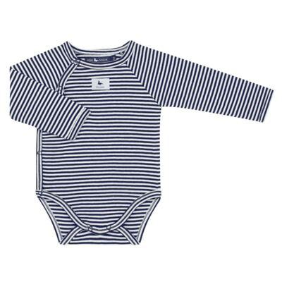Imagem 2 do produto Body longo c/ Calça (mijão) em suedine StripesMarinho - Mini Sailor - 17234444 BODY S M/L C/MIJAO RIB/SUEDINE MARINHO-6-9