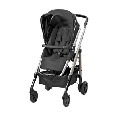 Imagem 2 do produto Travel System: Carrinho de bebê New Loola Modern Black + Moisés Windoo Plus Black Raven +  Bebê Conforto Streety.fix Black Raven (0m+) - Bébé Confort