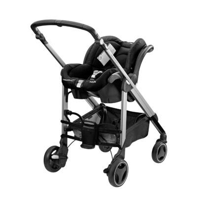 Imagem 6 do produto Travel System: Carrinho de bebê New Loola Modern Black + Moisés Windoo Plus Black Raven +  Bebê Conforto Streety.fix Black Raven (0m+) - Bébé Confort