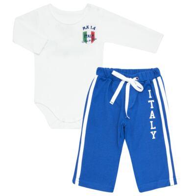 Imagem 1 do produto Body longo com Calça para bebe em Pima Cotton Supreme Itália - Mini & Kids - CBBC335 BODY ML COM CALÇA SUEDINE ITÁLIA-GG