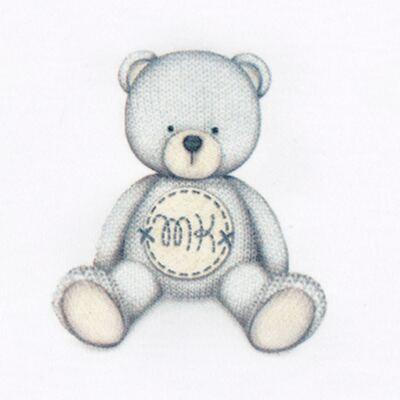 Imagem 3 do produto Pack: 2 babadores em Pima Cotton Supreme Prime Bear Branco - Mini & Kids