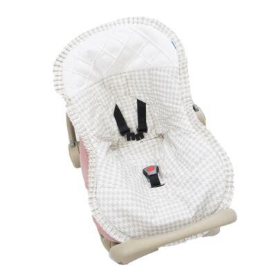 Imagem 1 do produto Capa para bebê conforto Windsor Bege - Biramar Baby