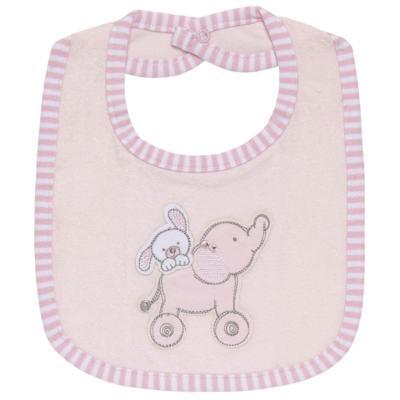 Imagem 1 do produto Babador para bebe atoalhado com bolsinho Elefantinha - Classic for Baby