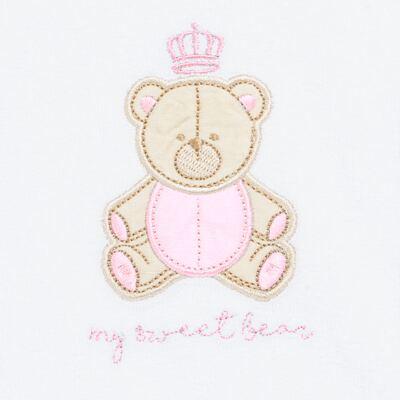 Imagem 2 do produto Babador para bebe atoalhado Princess Bear - Classic for Baby