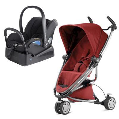 Imagem 1 do produto Travel System: Bebe Confort com Base Citi Black Raven Maxi-Cosi + Carrinho Zapp Xtra 2 Red Rumour Quinny