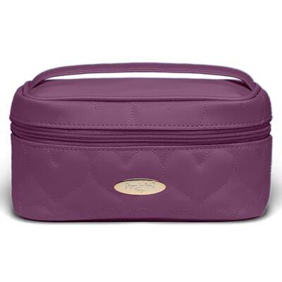 Imagem 2 do produto Kit Necessaire Farmacinha Corações Matelassê Vinho + 2 Lenços Umedecidos + Sabonete Líquido Bebê Tradicional - Classic For Baby Bags & Granado